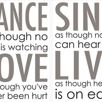Brewster Wallpaper CR-82003 Dance Love Sing Wall Quote