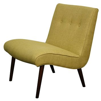 Alexis Fabric Chair, Pistachio