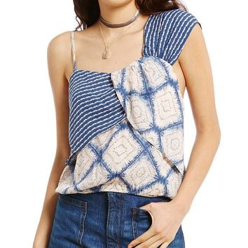 Free People Call On Me Print Top | Dillards
