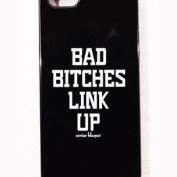 Classic Bad Bitches Link Up Cell Phone Case - Caviar Blaque