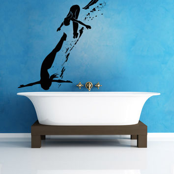Vinyl Wall Decal Sticker Diving #OS_AA769