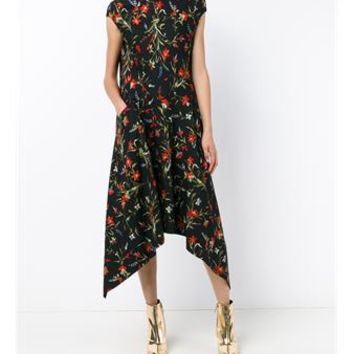 BALENCIAGA | Floral Print Asymmetric Dress | Womenswear | Browns Fashion