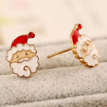 Red Santa Claus Earrings