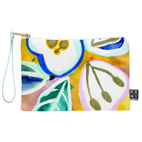 CayenaBlanca Painted Flowers Pouch