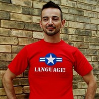 American Hero Watch Your Language Shirt. Superhero T-Shirt. Graphic Tee. from Evangelina's Closet