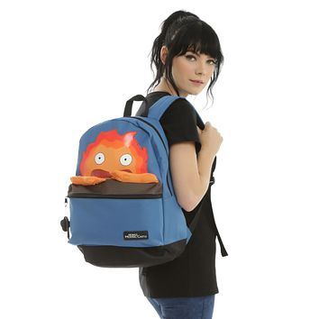 Licensed cool Studio Ghibli HOWLS MOVING CASTLE School Backpack Calcifer Arms Eggs Bacon NEW