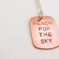 Toy Story Necklace - Hand Stamped Metal - Disney