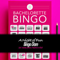 Bingo Bachelorette Game for Bachelorette Party, Bingo dare printable