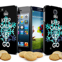 keep calm and let it go disney frozen design for iPhone 4/ 4s, iPhone 5,5s,5c case Samsung Galaxy S3, Samsung Galaxy S4 Case