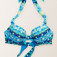 Aerie Women's Retro Halter Bikini Top (Brilliant Blue)