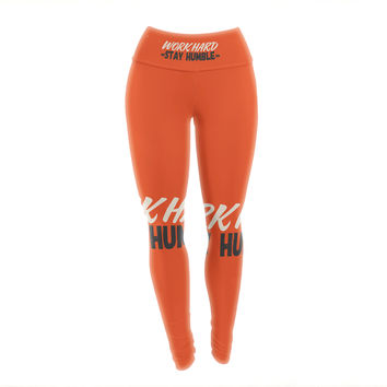 "Juan Paolo ""Work Hard Stay Humble"" Digital Vintage Yoga Leggings"