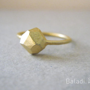 gold ring, faceted jewelry, geometric ring, wedding ring, hand made jewelry, engagement ring, delicate ring,stacking ring, fine jewelry