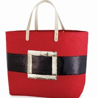 Dazzle Holiday Tote by Mud Pie