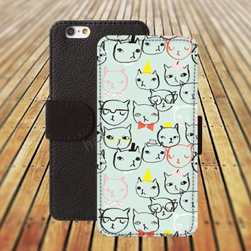iphone 5 5s case dream cartoon cat case iphone 4/ 4s iPhone 6 6 Plus iphone 5C Wallet Case,iPhone 5 Case,Cover,Cases colorful pattern L144