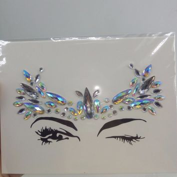 2017 Bindi Sticker Handpicked Boho And Tribal Style Face and eye Jewels Stickers Eyebrow