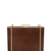 Knock On Wood Brown Clutch