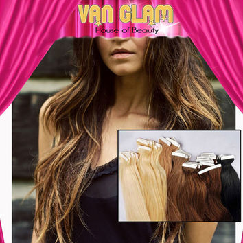 "Balayage Ombre/ Tape In / Hair Extensions / 24"" / Cuticle Remy"