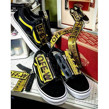 Off White X Vans Ribbon Zipper Limited Edition Shoes 35 44