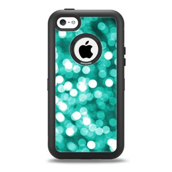 The Unfocused Teal Orbs of Light Apple iPhone 5c Otterbox Defender Case Skin Set