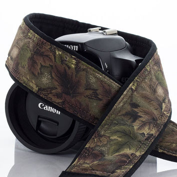 dSLR Camera Strap, Binoculars, Camo, Canon Camera Strap, Nikon Camera Strap, Mirrorless Camera, Mens Camera Strap, Green, Brown, SLR, 16 a