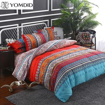 Bohemian bedding sets 3/4pcs Mandala duvet cover set Flat sheet Pillowcase Twin/Full/Queen/king size bedding set bed linens