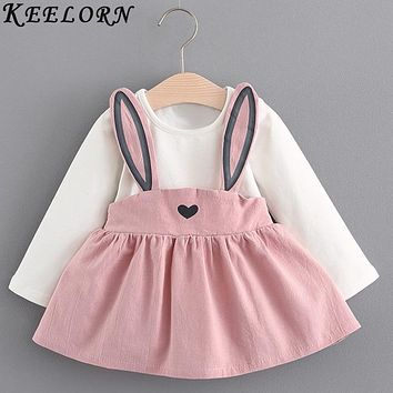 Keelorn Baby Girl Dress 2018 New Autumn baby clothes Fashion princess Dress Newborns Birthday Dresses Girls Clothes Kids