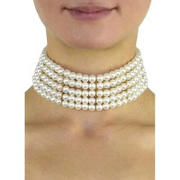 Bella Pearl Choker Necklace