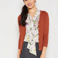 Charter School Cardigan in Ginger