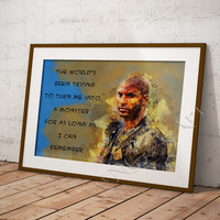Lincoln, The 100, Ricky Whittle, Instant download, Serial movie, Digital Print, Room decor, Wall print, Poster, Watercolor art, Prints art