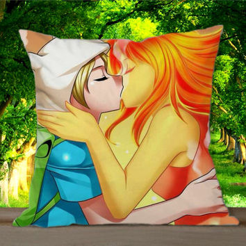 Adventure time finn and flame princess kiss for Pillowcases