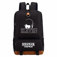 Stranger Things backpack schoolbag casual backpack teenagers Men women's Student School Bags travel Shoulder Bag Laptop Bags
