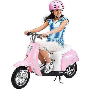 Pink Razor Pocket Mod Moped Electric Motorized Scooter For Kids