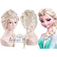 Free Shipping +Free Hair Cap +For Adults/Kids Handmade Princess Frozen Snow Queen Elsa Cosplay Wig Costume Elsa Wig Cosplay Convention