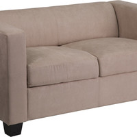 Prestige Series Light Brown Microfiber Loveseat