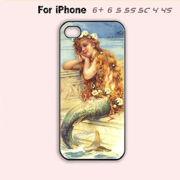 Little Mermaid Phone Case For iPhone7 7 Plus For iPhone 6 Plus For iPhone 6 For iPhone 5/5S For iPhone 4/4S For iPhone 5C-5 Colors Available