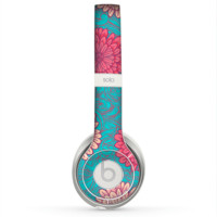 The Pink & Blue Floral Illustration Skin for the Beats by Dre Solo 2 Headphones