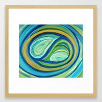 Yin & Yang | Abstract Oil Painting Framed Art Print by mariameesterart
