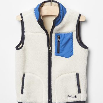 Gap Baby Colorblock Sherpa Vest