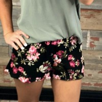 Our Little Secret Floral Shorts