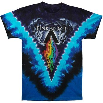 Pink Floyd Men's  Prism River Tie Dye T-shirt Multi
