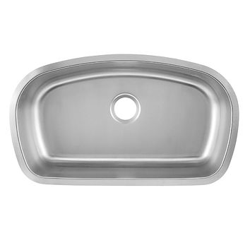 DAX-3319 / DAX SINGLE BOWL UNDERMOUNT KITCHEN SINK, 18 GAUGE STAINLESS STEEL, BRUSHED FINISH