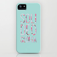 Soli Deo Gloria Floral iPhone & iPod Case by Allyson Johnson