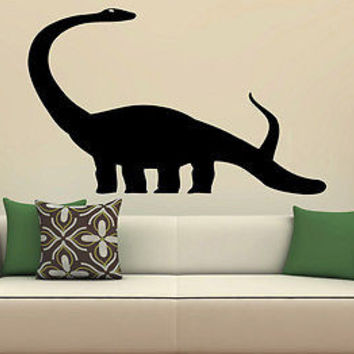 Wall Decor Vinyl Decal Sticker Mural dinosaur with long neck baby room S2142