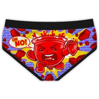 """Women's """"Kruel Aid Ma'am"""" Period Panties by Harebrained!"""