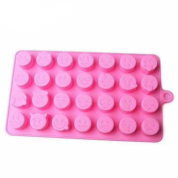 DIY Emoji Cake Chocolate Cookies Ice Cube Soap Silicone Mold Tray Baking Mold Personality expression Ice mold