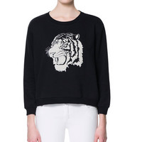 SWEATSHIRT WITH ANIMAL EMBROIDERY - Knitwear - Woman - Sale | ZARA Canada