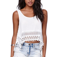 Cotton Candy Crochet Hem Tank at PacSun.com