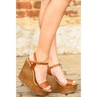 Good As Gold Wedge-Cognac