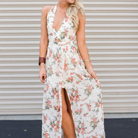 Weekend Brunch Halter Maxi Dress