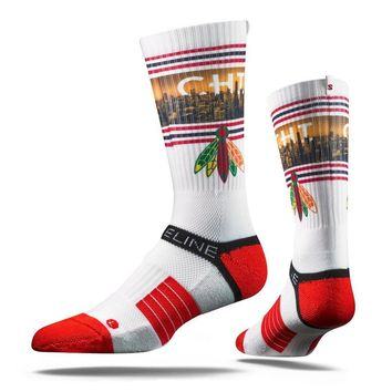 Strideline 2.0 Chicago Blackhawks Adult Crew Socks